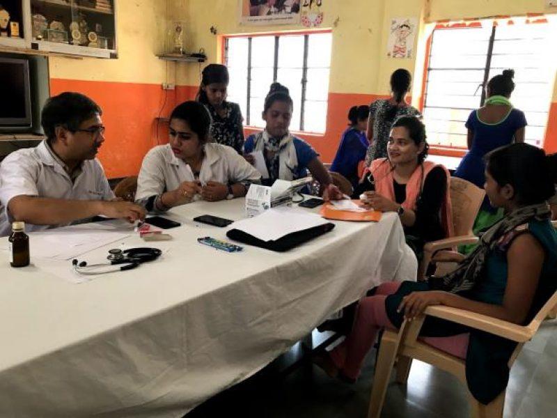 Medical Mentoring visit - Childrens Home -Bhaje