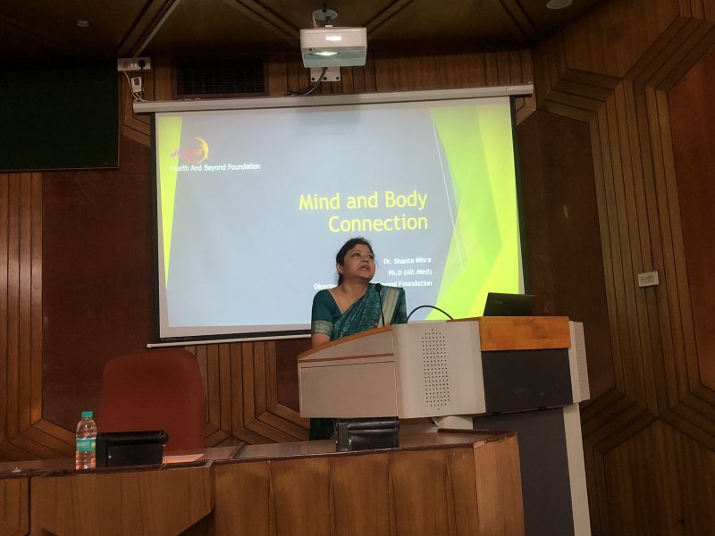Lecture on Mind-Body connection - Mental health program