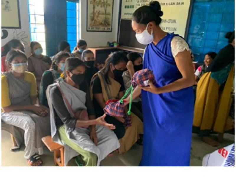 Distribution of Mooncatcher kits - reusable sanitary pads among adolescent girls - Meghalaya -July 2021