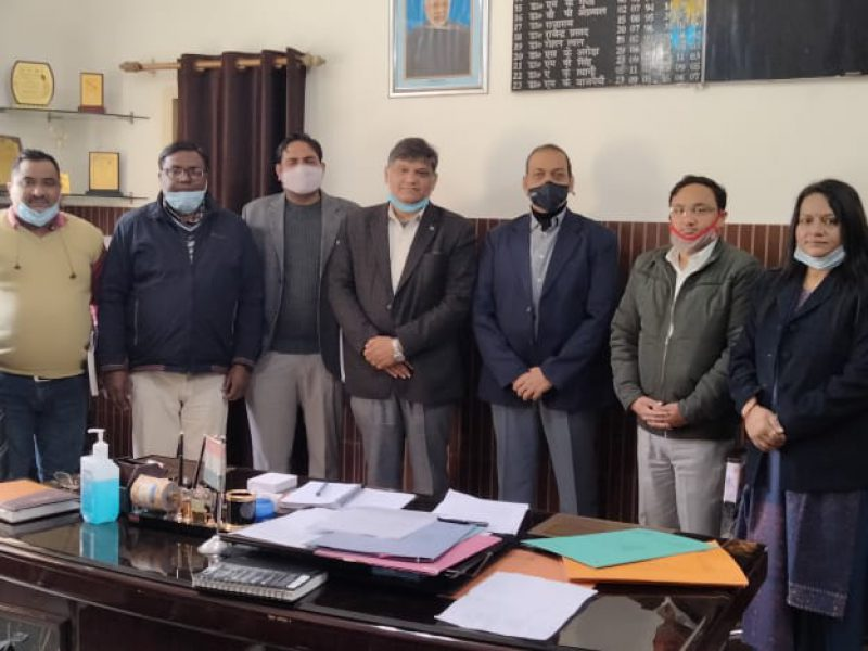 Meeting with District Health team -Assessment of Health and Wellness Center - Uttar Pradesh -February 2021