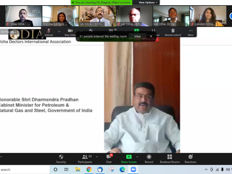 Welcome address by Hon'ble Minister -International Webinar on COVID19 vaccine launch - Odisha Doctors International Association (ODIA)