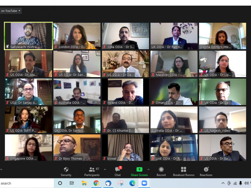 Dr. S N Misra participated as Lead speaker from India - International Webinar on COVID19 vaccine launch - Odisha Doctors International Association (ODIA)