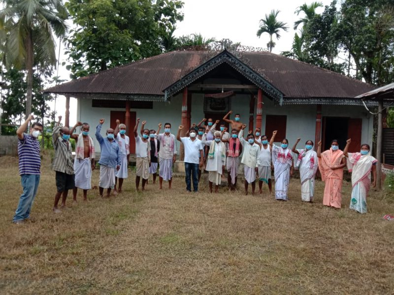 Public Oath on Hygiene Practices, Sanpura Village,Kamrup,Assam, Dr. Arupjyoti Kalita - July 2020